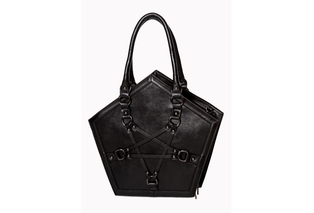 Banned Apparel | Evocation Pentagram Handbag - Front View