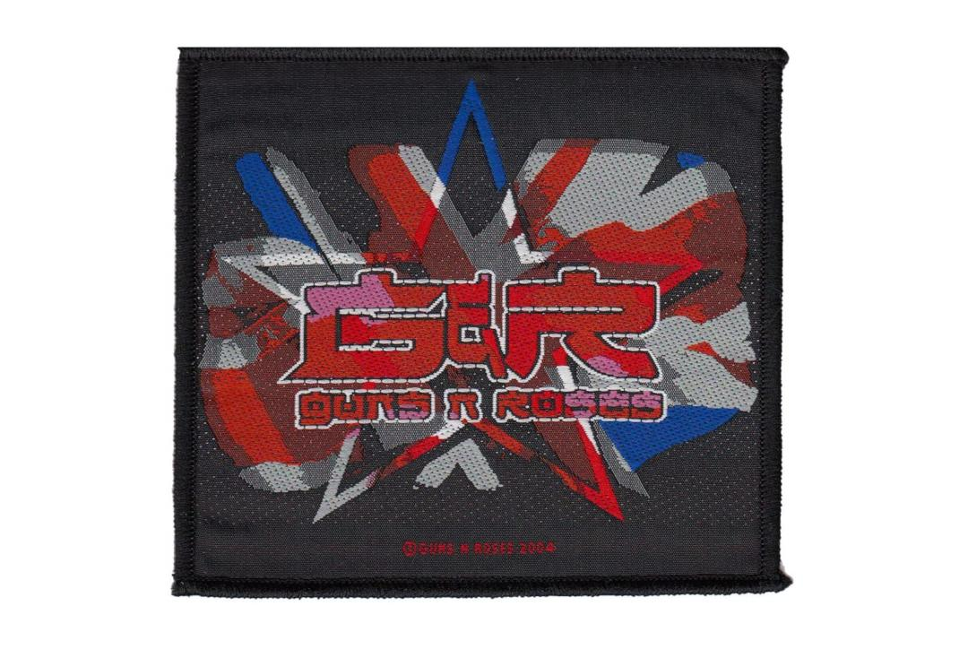 Official Band Merch | Guns 'N' Roses - Red/White/Blue Star Printed Woven Patch