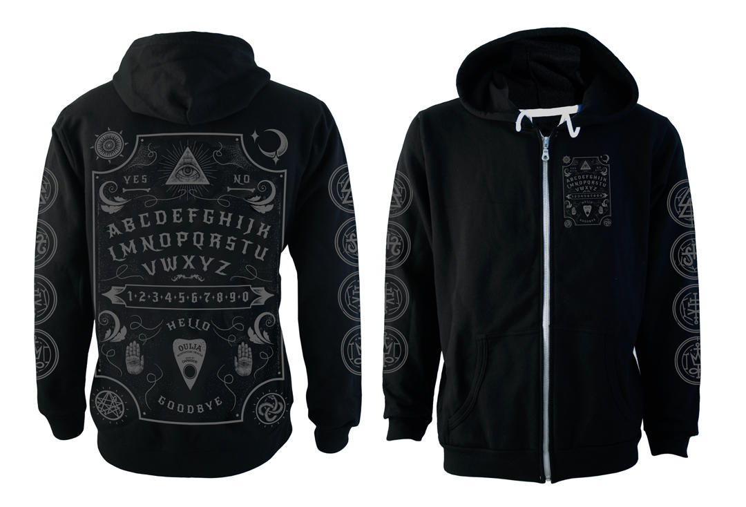 Darkside | Ouija Board Fleece Lined Unisex Zip Hood