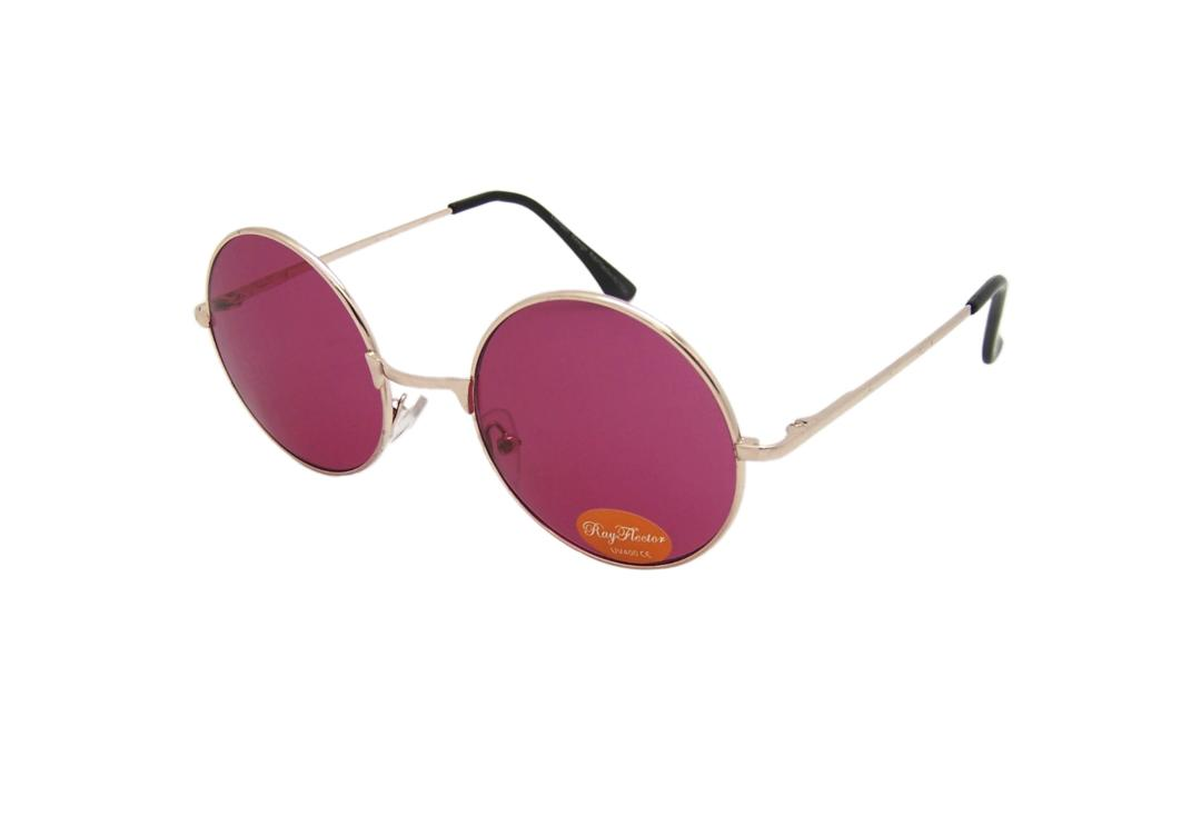 RayFlector | Rose Red Round Lennon Sunglasses