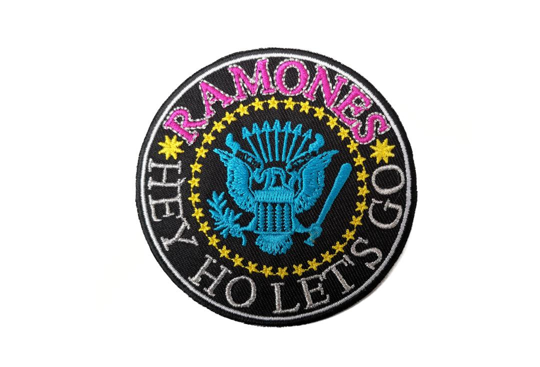 Official Band Merch | Ramones - Hey Ho Let's Go Version 2 Woven Patch