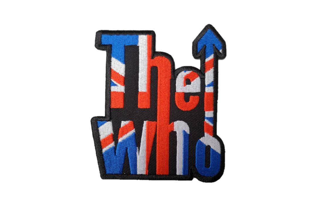 Official Band Merch | The Who - Union Jack Logo Woven Patch