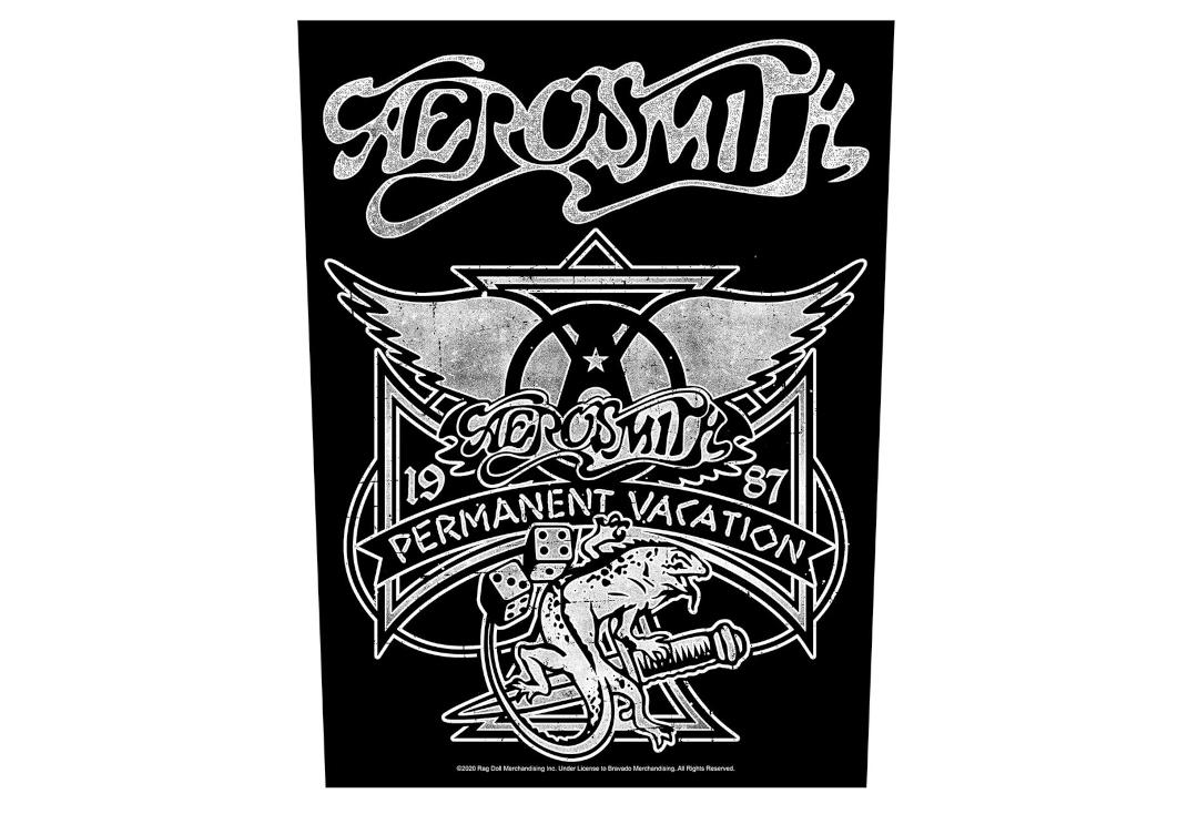 Official Band Merch | Aerosmith - Permanent Vacation Printed Back Patch