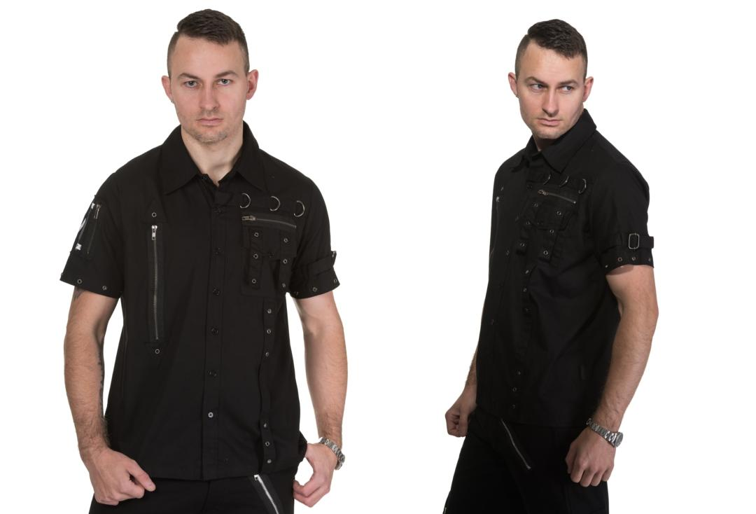 Dead Threads | Patch Detail 9873 Short Sleeve Shirt - Front & Side