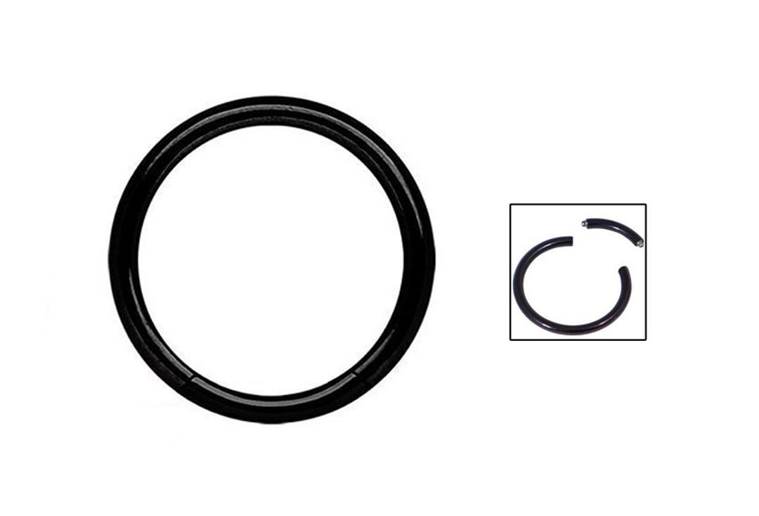 Body Jewellery | Black PVD Surgical Steel Smooth Segment Ring