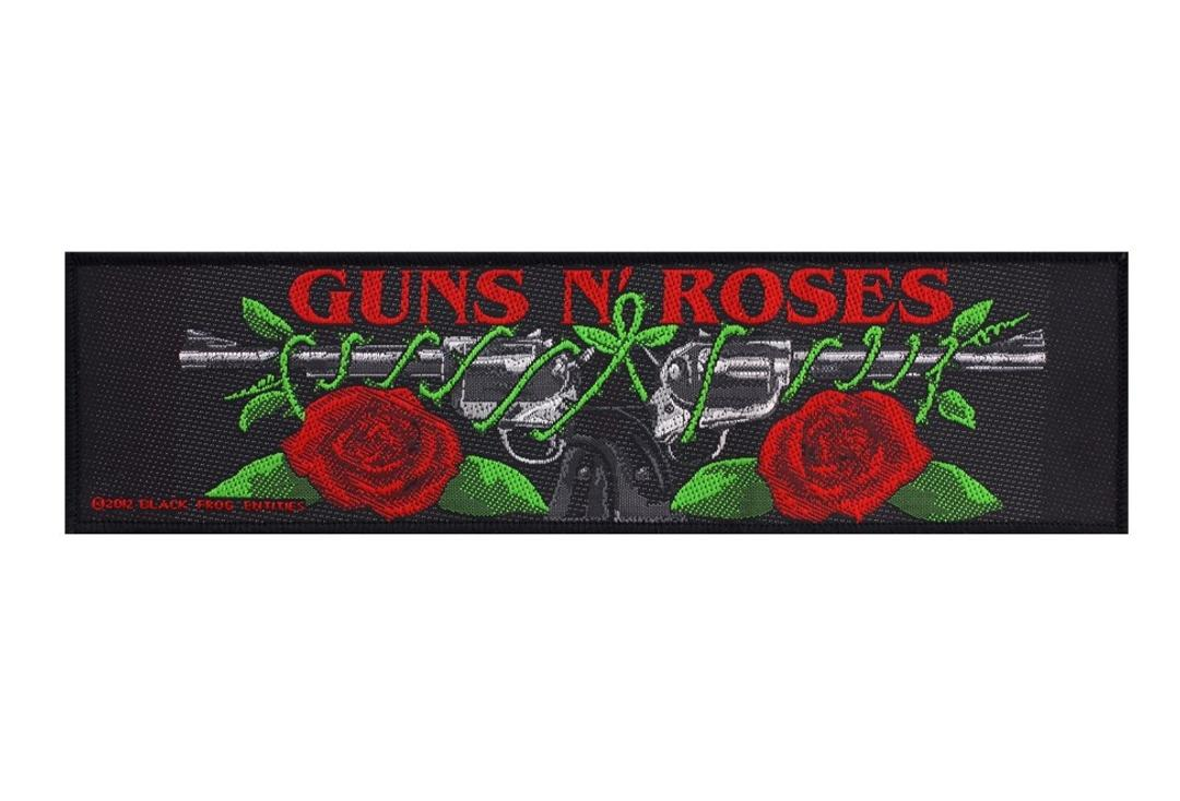 Official Band Merch | Guns N' Roses - Logo/Roses Woven Super Strip Patch