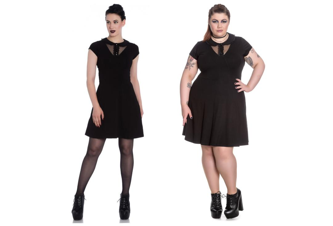 Spin Doctor | Ebony Black Mini Dress - Front View