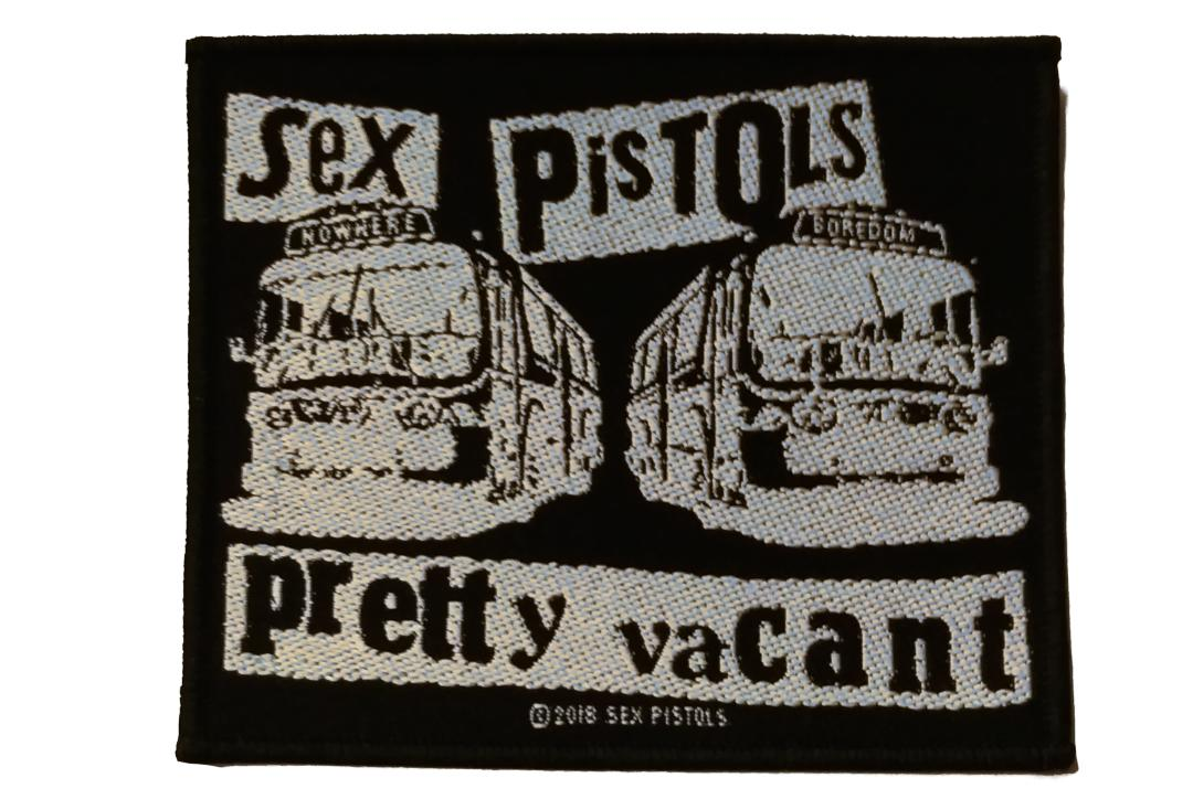 Official Band Merch | Sex Pistols - Pretty Vacant (Bus) Woven Patch