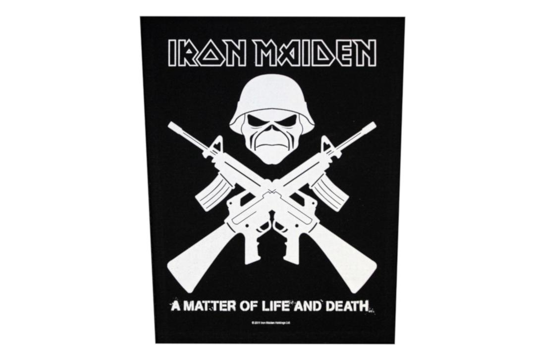 Official Band Merch | Iron Maiden - A Matter Of Life And Death Woven Back Patch