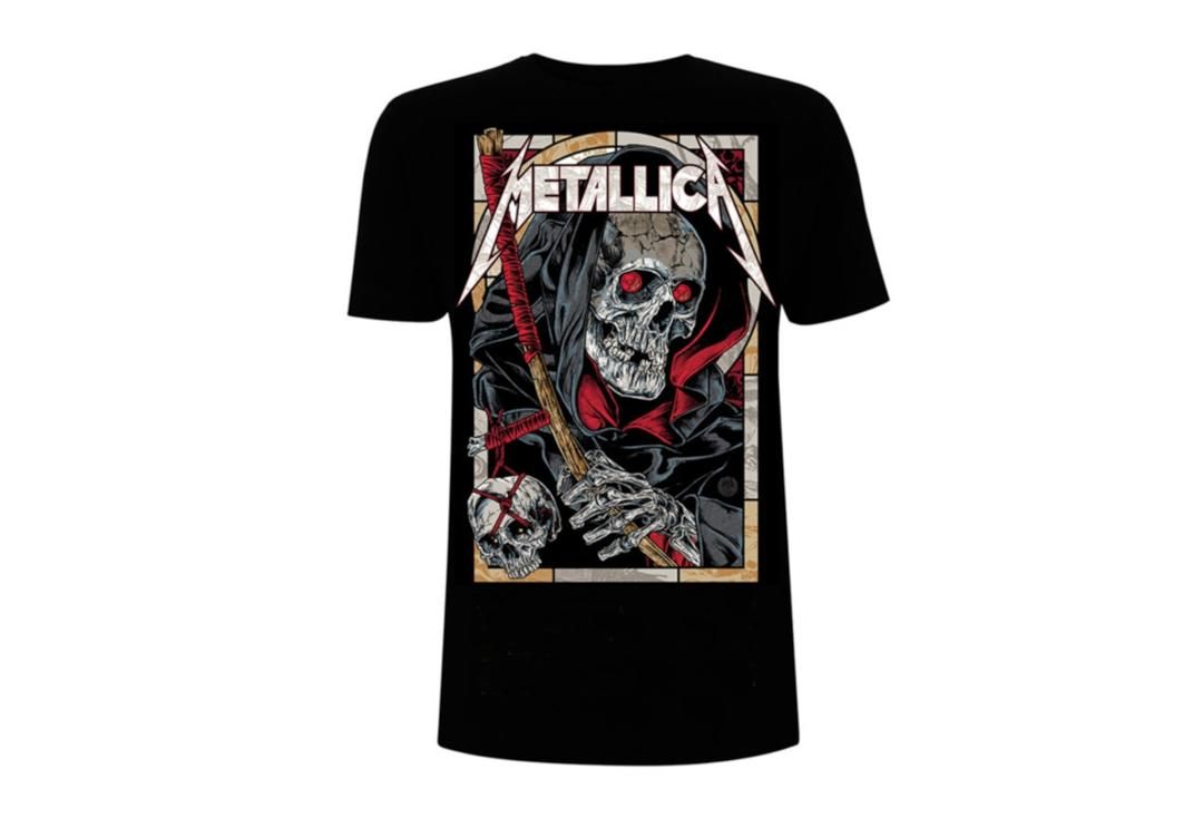Official Band Merch | Metallica - Death Reaper Men's Short Sleeve T-Shirt - Front View