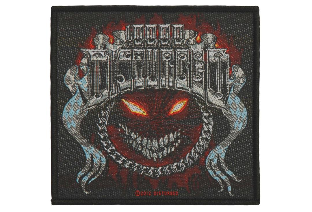 Official Band Merch | Disturbed - Chrome Smiley Woven Patch