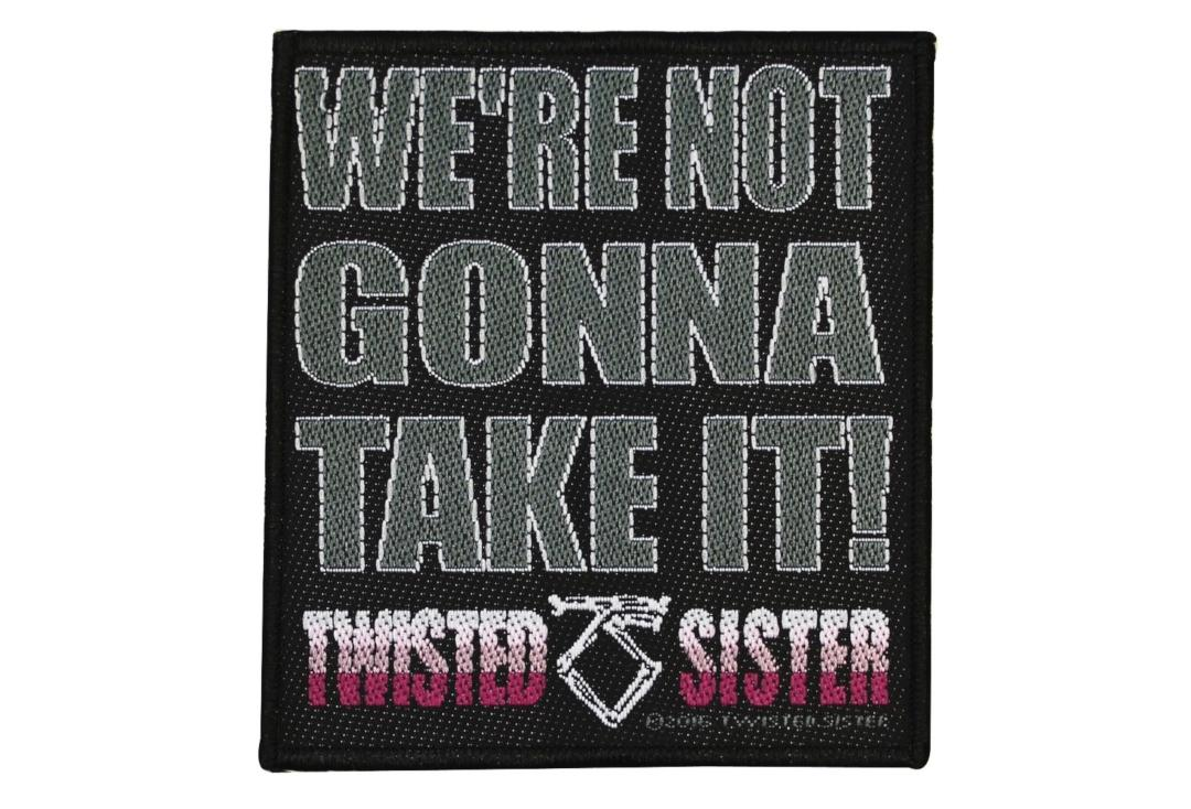 Official Band Merch | Twisted Sister - We're Not Gonna Take It! Woven Patch