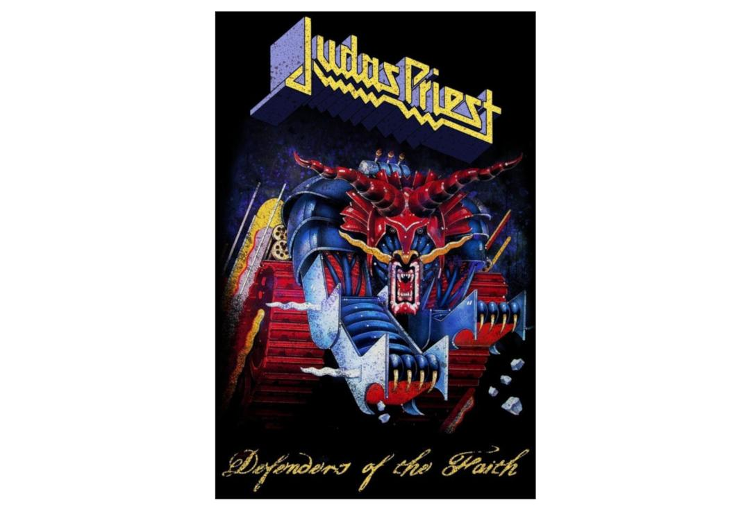 Official Band Merch | Judas Priest - Defenders Of The Faith Printed Textile Poster
