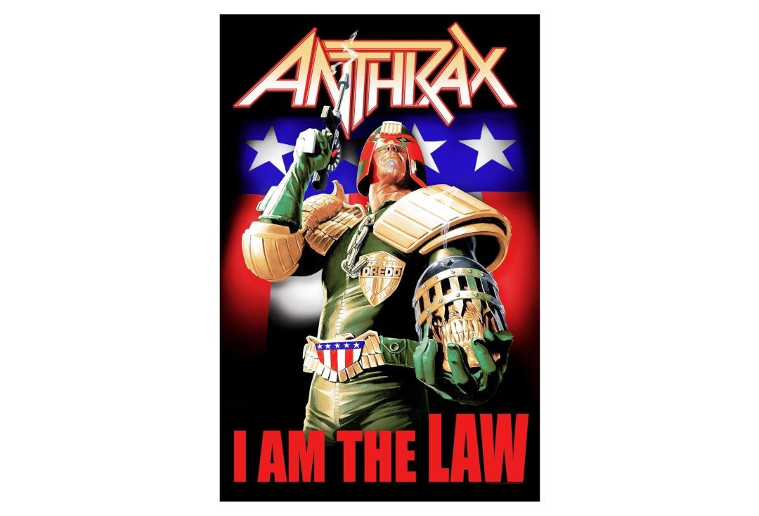 Official Band Merch | Anthrax - I Am The Law Printed Textile Poster