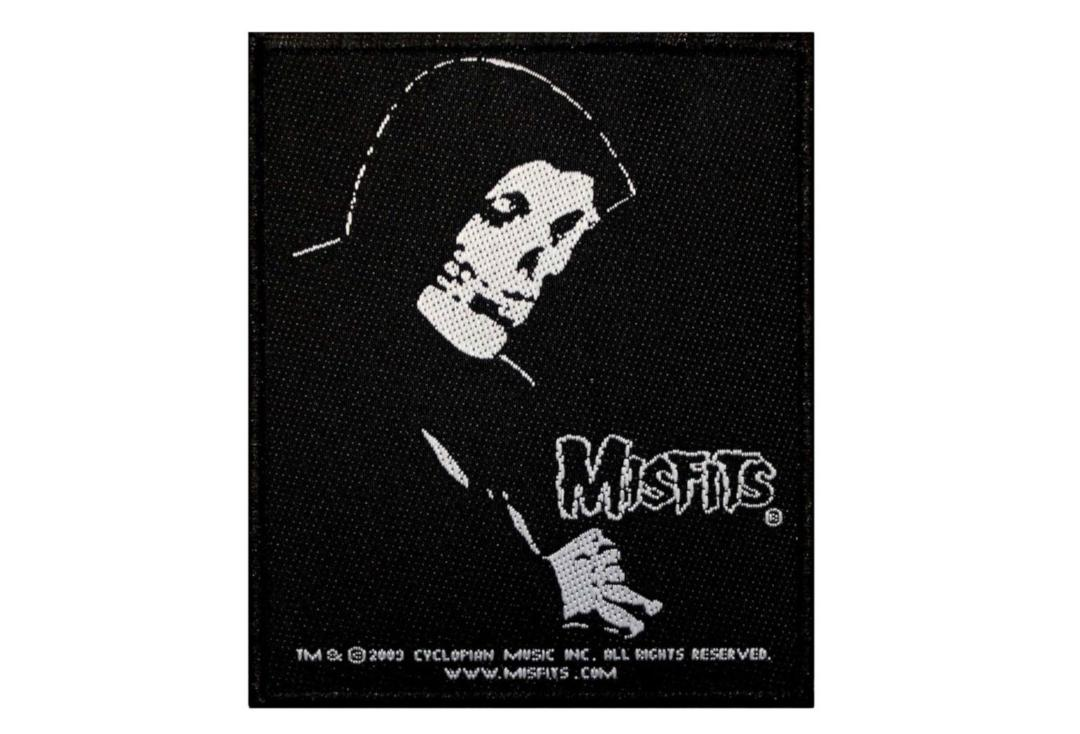 Official Band Merch | Misfits - Evilive Crimson Ghost Skull Woven Patch