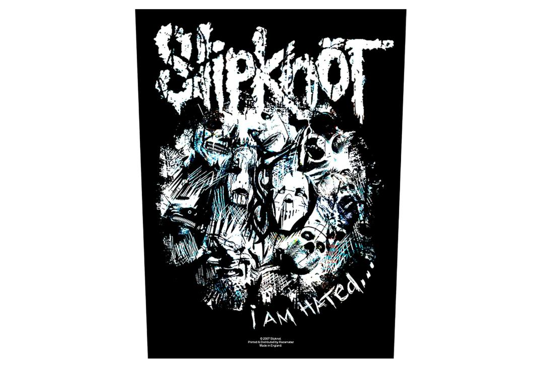 Official Band Merch | Slipknot - I Am Hated Printed Back Patch