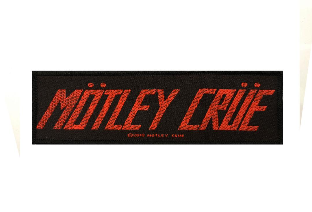 Official Band Merch | Motley Crue - Red Logo Woven Patch