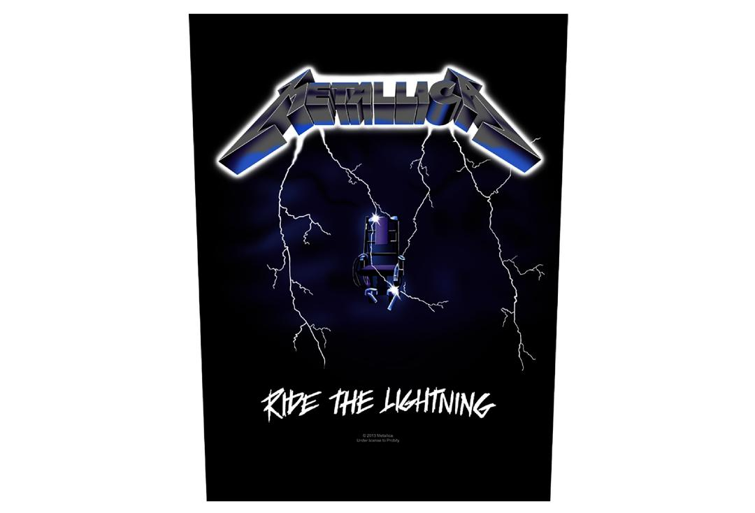 Official Band Merch |   Metallica - Ride The Lightning Printed Back Patch