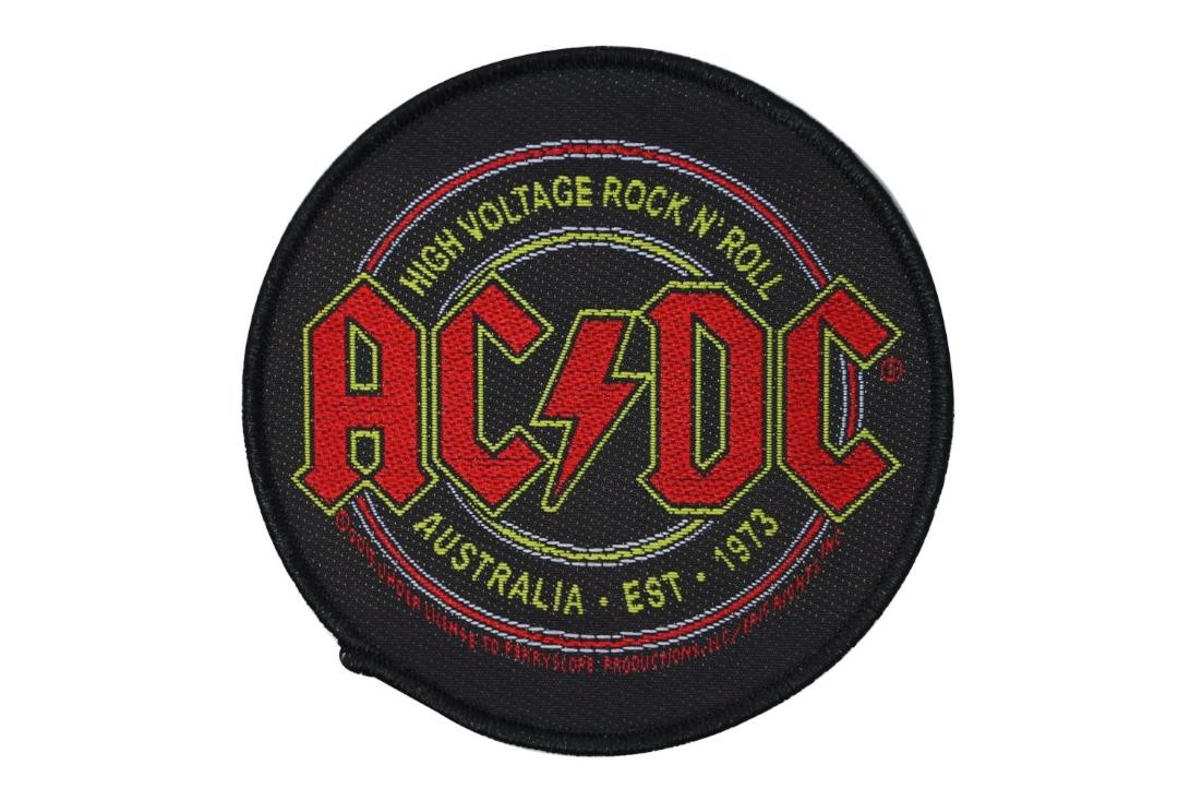 Official Band Merch | AC/DC - High Voltage Rock N' Roll Woven Patch