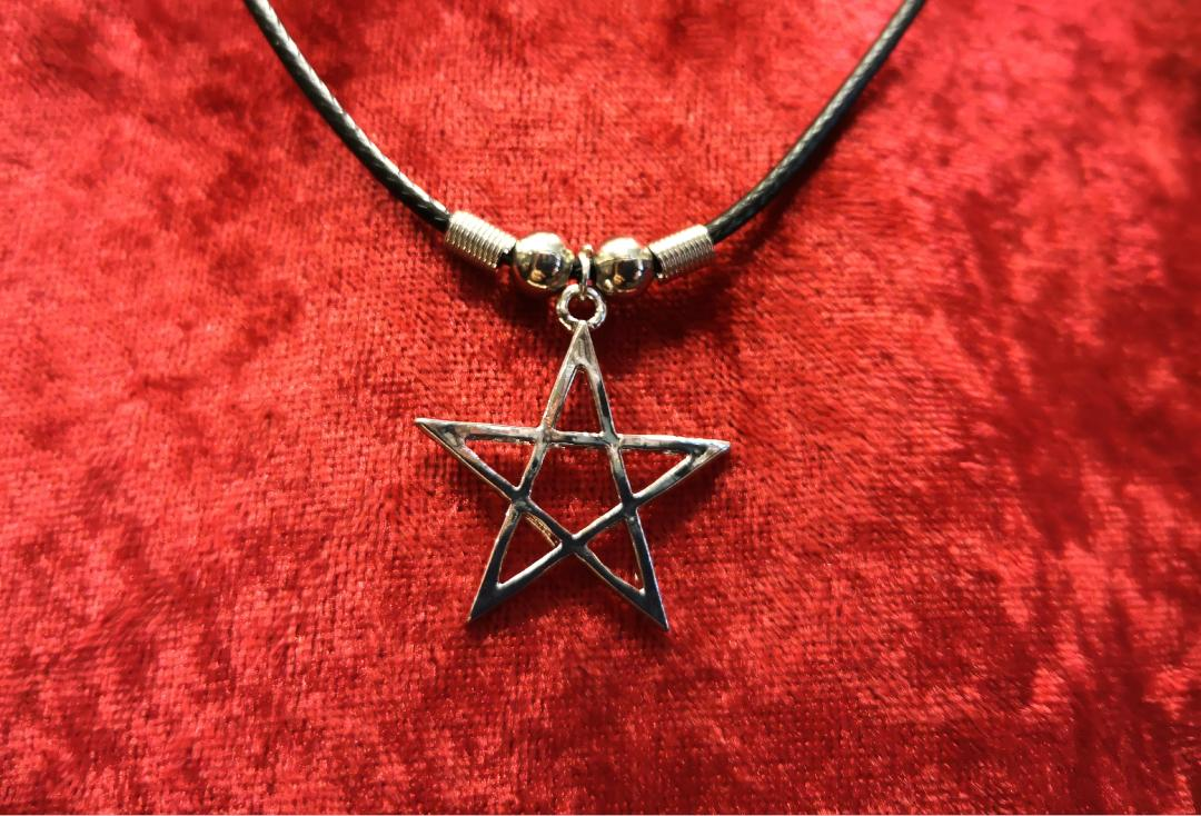 Void Clothing | Plain Corded Pentagram Pendant