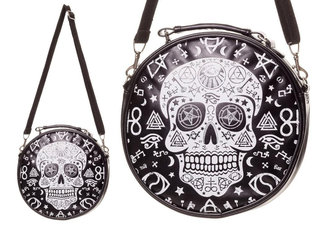 Banned Apparel | Black Pentagram Skull Shoulder Bag