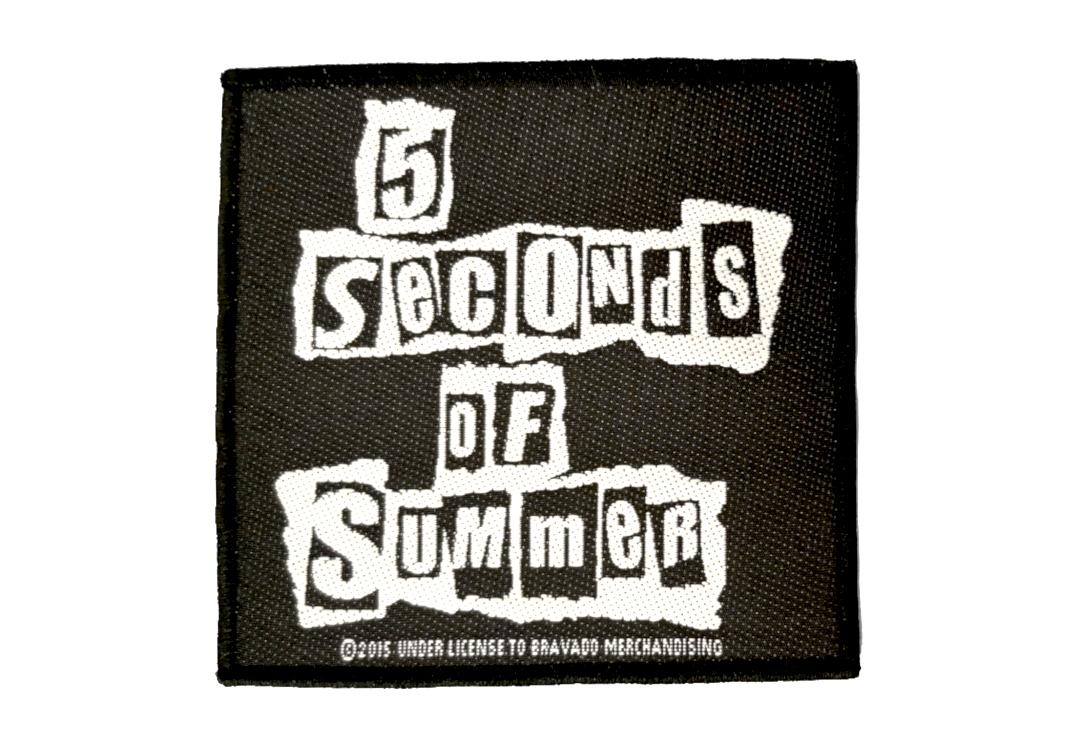 Official Band Merch | 5 Seconds Of Summer - Ripped Logo Woven Patch