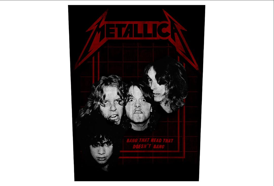 Official Band Merch | Metallica - Bang That Head Printed Back Patch
