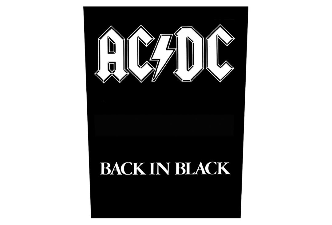 Official Band Merch | AC/DC - Back In Black Printed Back Patch