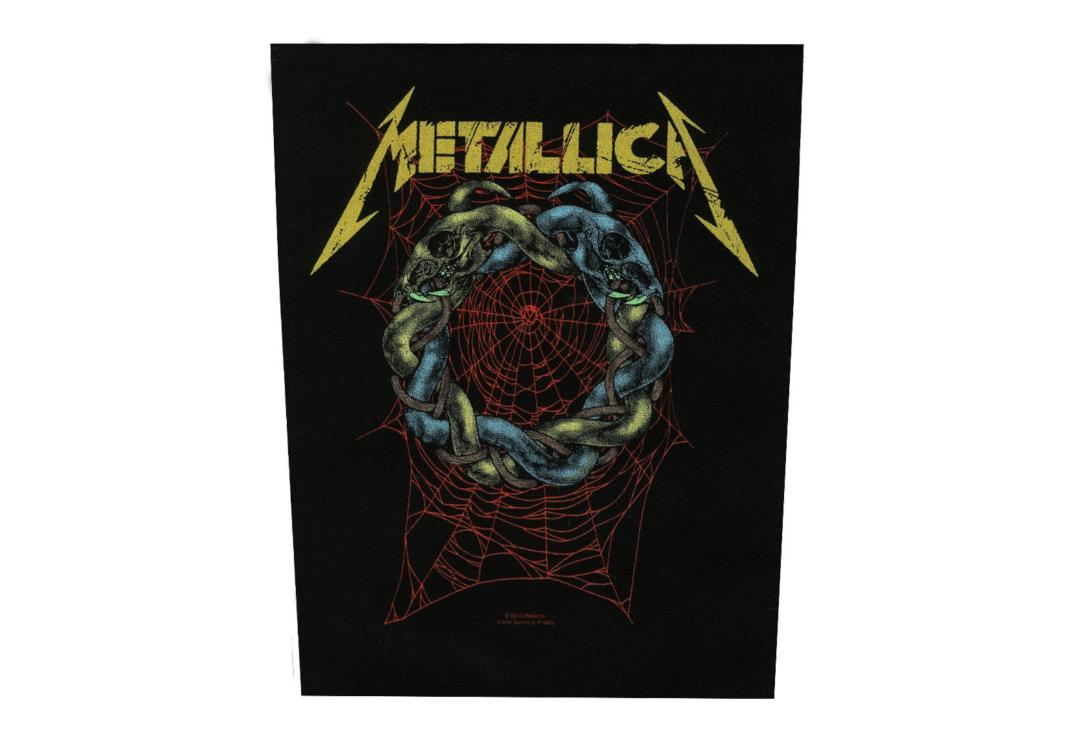 Official Band Merch | Metallica - Tangled Web Printed Back Patch