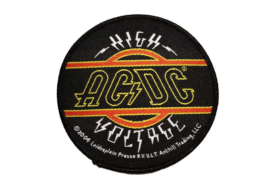 Official Band Merch | AC/DC - High Voltage Round Woven Patch