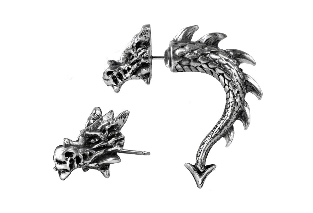 Alchemy Gothic | Tor Dragon Fake Horn Ear Stud
