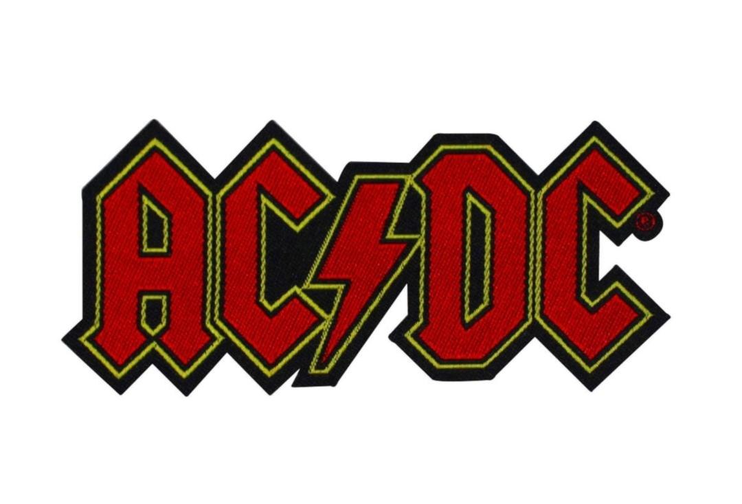 Official Band Merch | AC/DC - Cut Out Logo Woven Patch