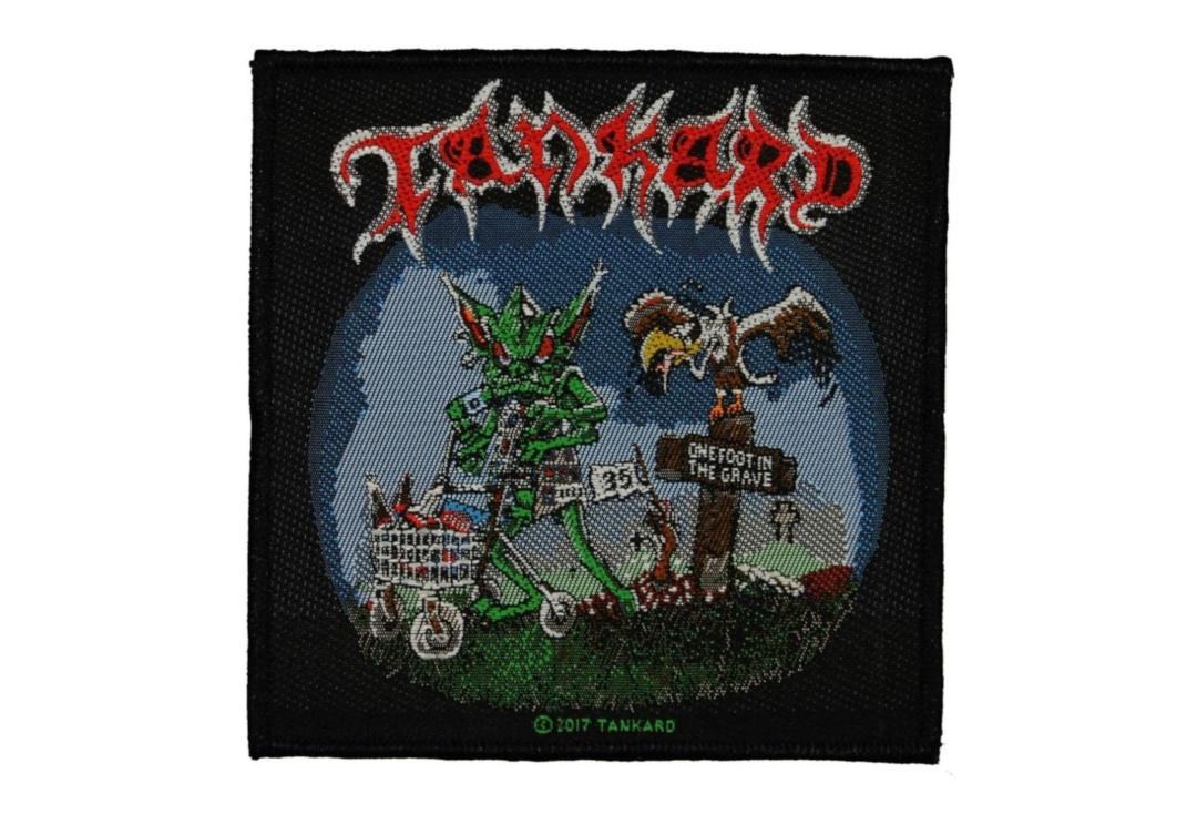 Official Band Merch | Tankard - One Foot In The Grave Woven Patch