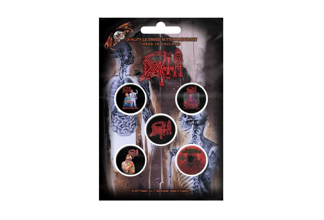 Official Band Merch | Death - Albums Button Badge Pack