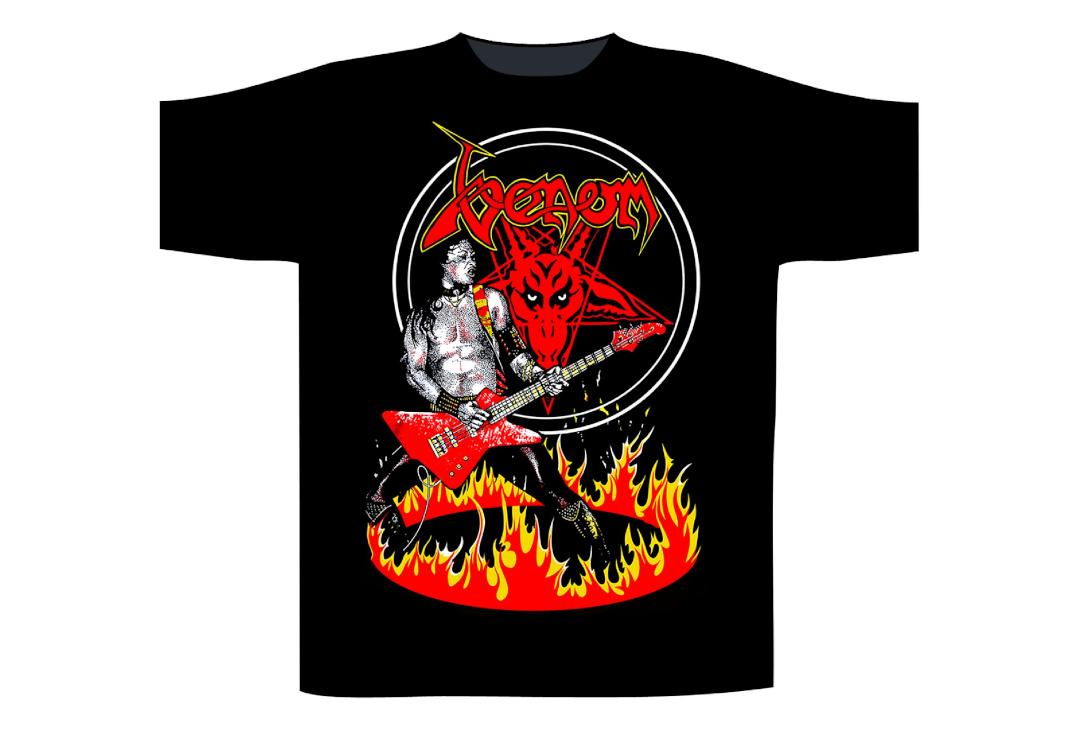 Official Band Merch | Venom - Cronos In Flames Men's Short Sleeve T-Shirt