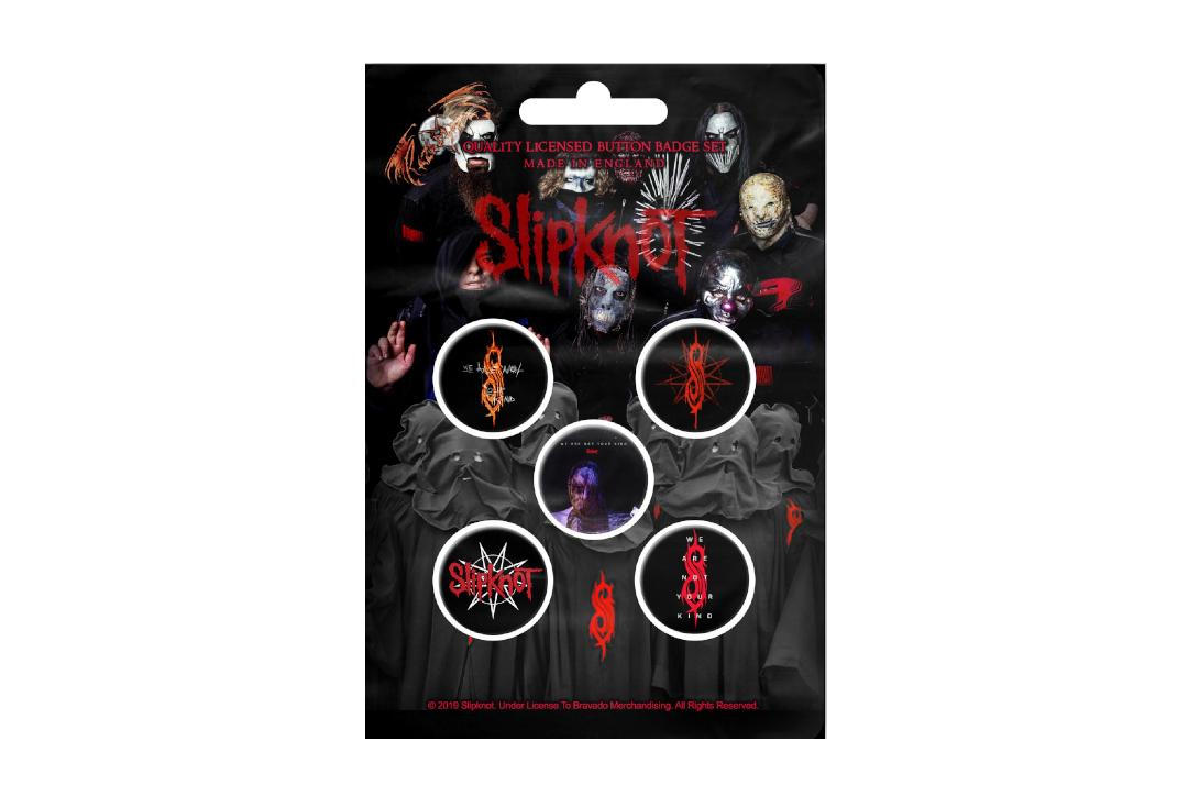 Official Band Merch | Slipknot - We Are Not Your Kind Button Badge Pack