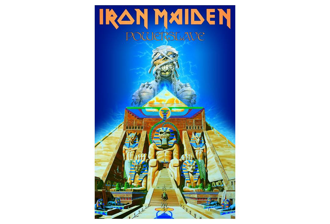 Official Band Merch | Iron Maiden - Powerslave Printed Textile Poster
