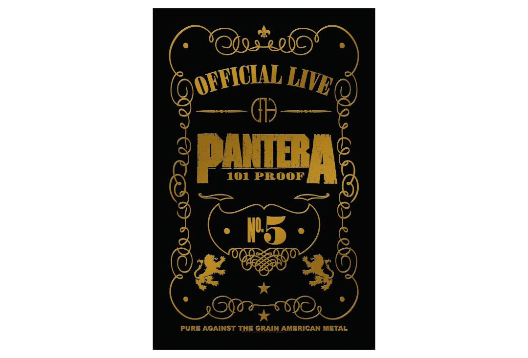 Official Band Merch | Pantera - 101 Proof Printed Textile Poster