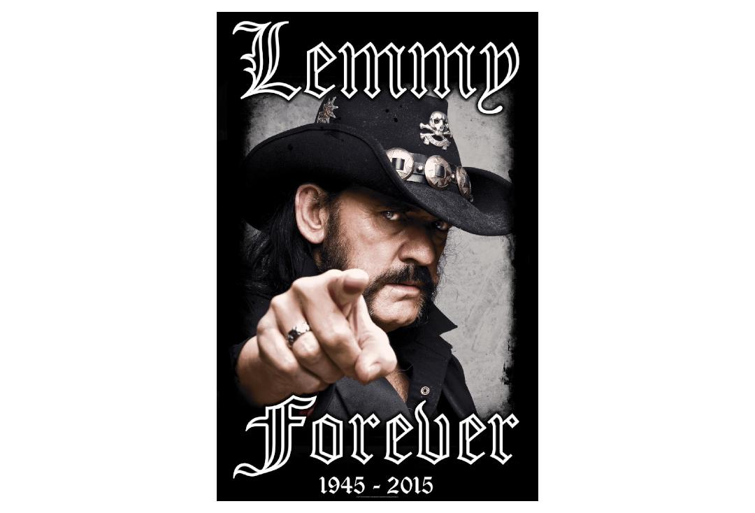 Official Band Merch | Lemmy - Forever Printed Textile Poster
