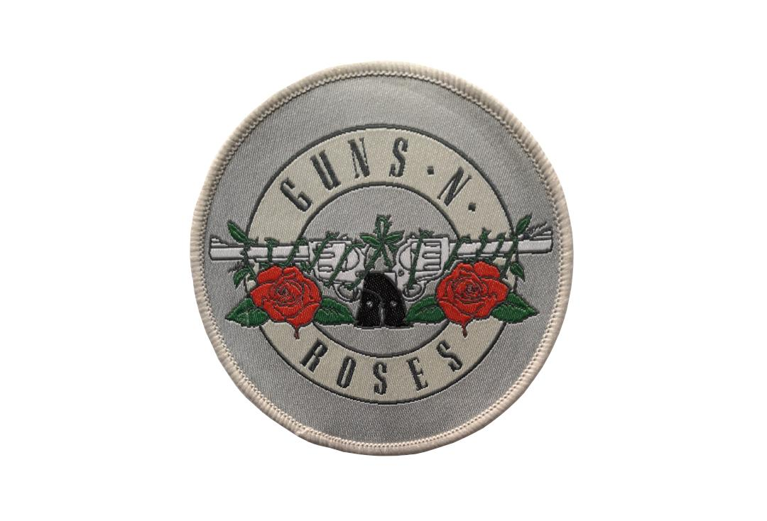 Official Band Merch | Guns 'N' Roses - Silver Circle Logo Woven Patch