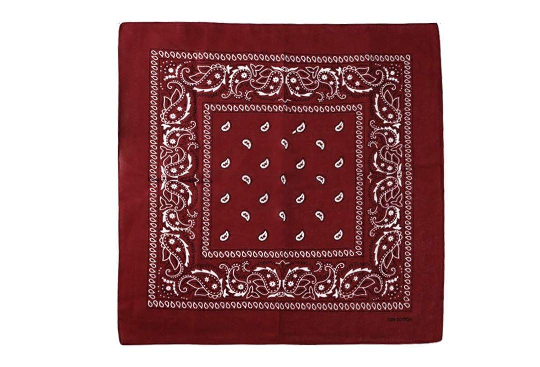 Void Clothing | Burgundy Paisley Cotton Bandana