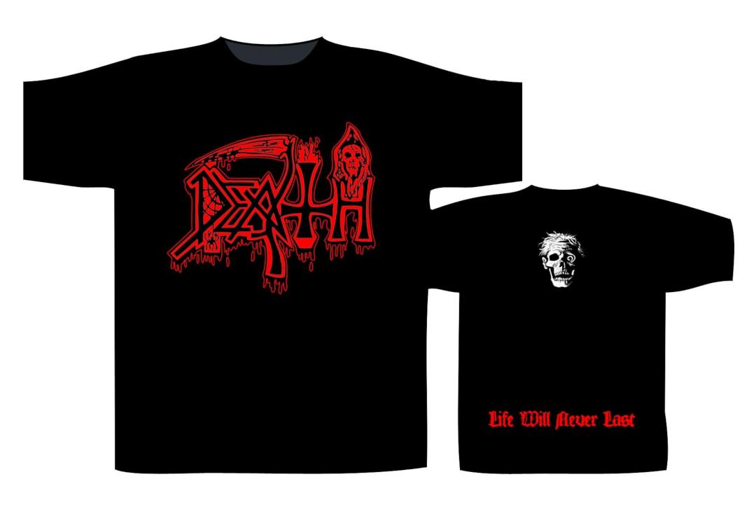 Official Band Merch | Death - Life Will Never Last Men's Short Sleeve T-Shirt