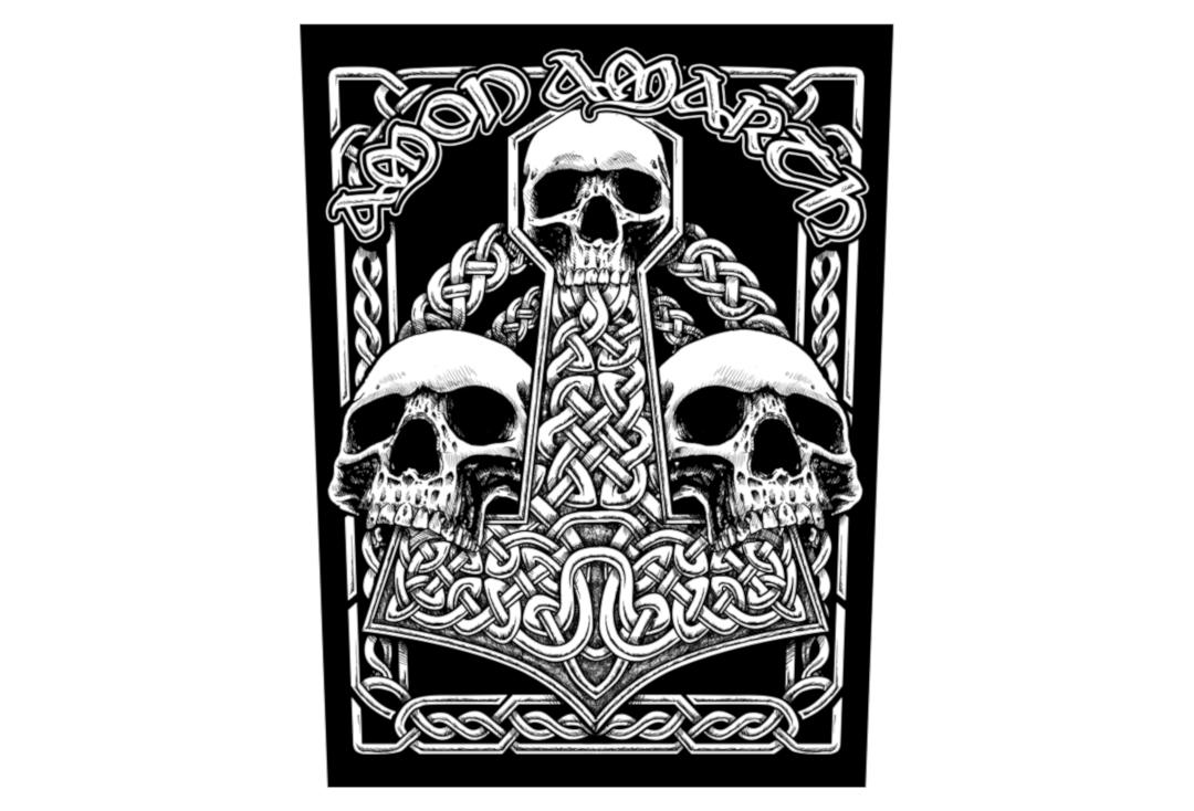 Official Band Merch | Amon Amarth - Three Skulls Printed Back Patch