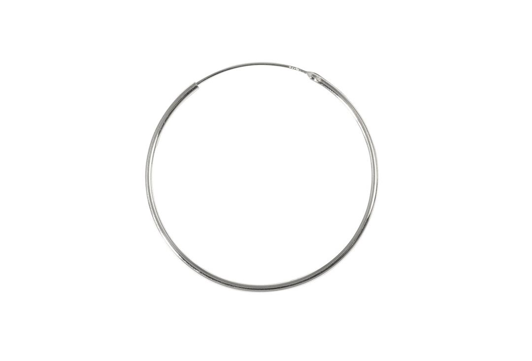 Body Jewellery | Sterling Silver Hinged Hoop Thin Gauge