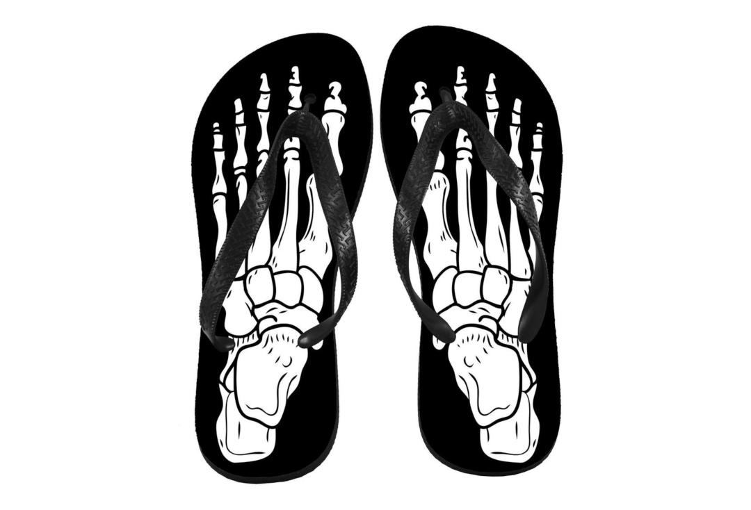 Darkside Clothing | Skeleton Feet Flip-Flops