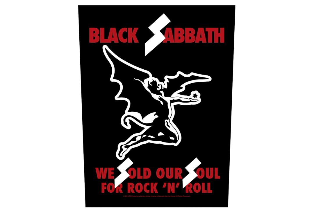 Official Band Merch | Black Sabbath - We Sold Our Souls Printed Back Patch