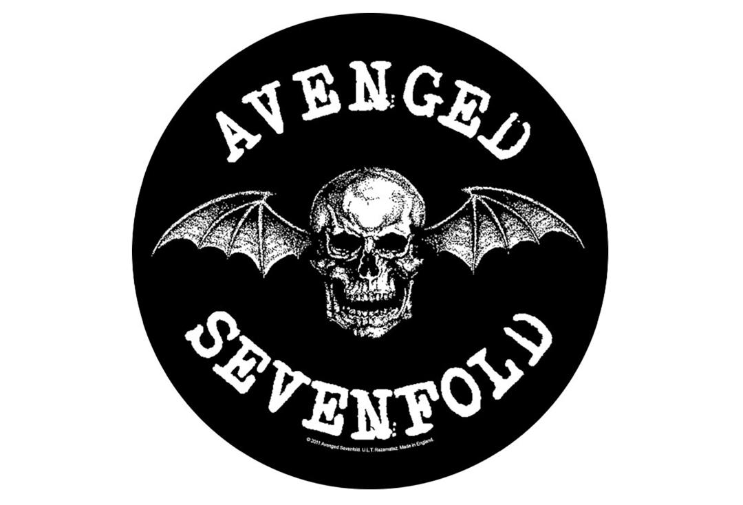 Official Band Merch | Avenged Sevenfold - Death Bat Printed Back Patch