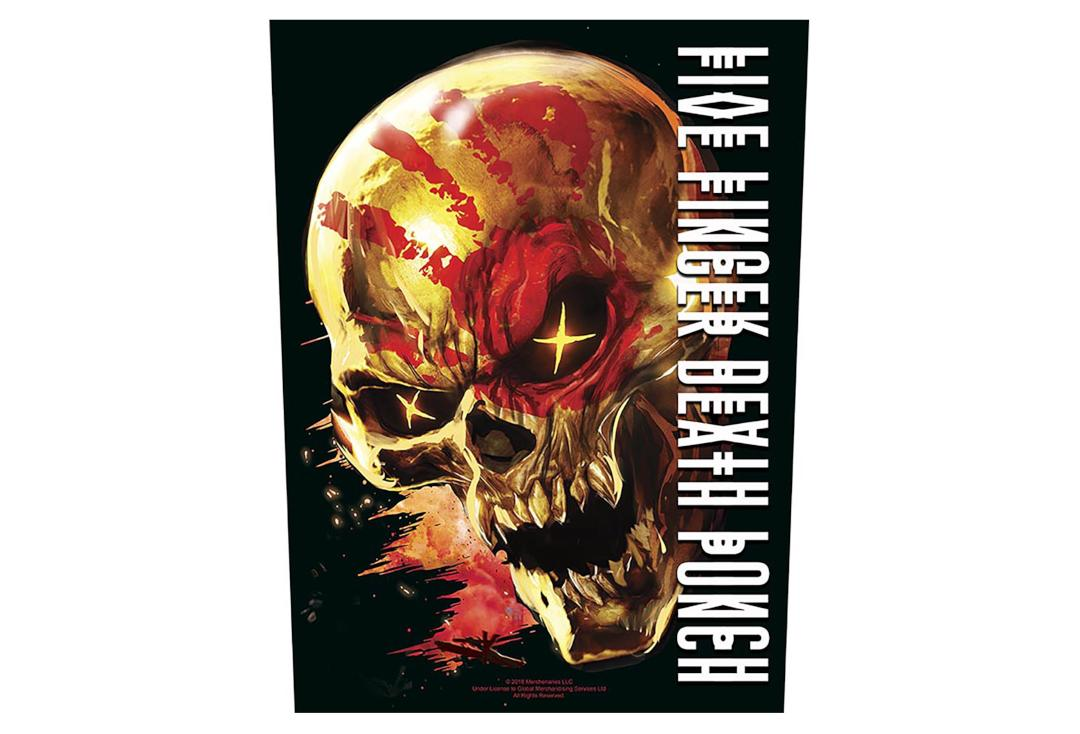 Official Band Merch | Five Finger Death Punch - And Justice For None Printed Back Patch