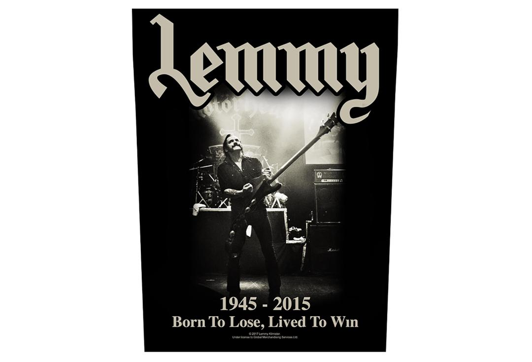 Official Band Merch | Lemmy - Lived To Win Printed Back Patch