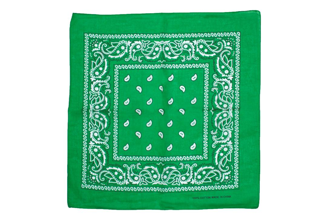 Void Clothing | Jade Green Paisley Cotton Bandana